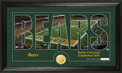 Baylor Bears Word Art and Coin Photo Mint