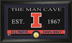 Illinois Fighting Illini Man Cave Sign and Photo Mint