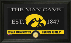 Iowa Hawkeyes Man Cave Sign and Photo Mint