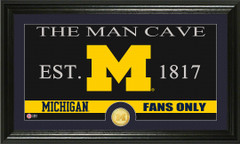 Michigan Wolverines Man Cave Sign and Photo Mint