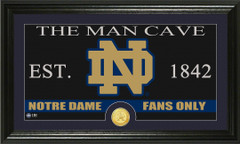 Notre Dame Fighting Irish Man Cave Sign and Photo Mint