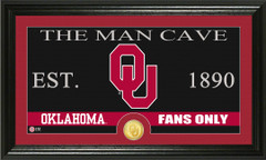 Oklahoma Sooners Man Cave Sign and Photo Mint