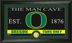 Oregon Ducks Man Cave Sign and Photo Mint