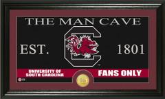 South Carolina Gamecocks Man Cave Sign and Photo Mint
