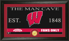 Wisconsin Badgers Man Cave Sign and Photo Mint