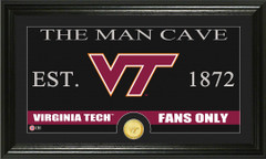 Virginia Tech Hokies Man Cave Sign and Photo Mint