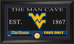 West Virginia Mountaineers Man Cave Sign and Photo Mint