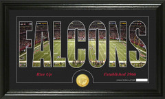 Atlanta Falcons Word Silhoutte Coin Photo Mint
