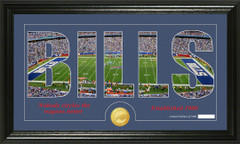 Buffalo Bills Word Silhoutte Coin Photo Mint