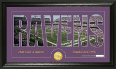 Baltimore Ravens Word Silhoutte Coin Photo Mint