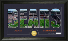 Chicago Bears Word Silhoutte Coin Photo Mint