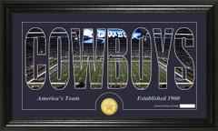 Dallas Cowboys Word Silhoutte Coin Photo Mint