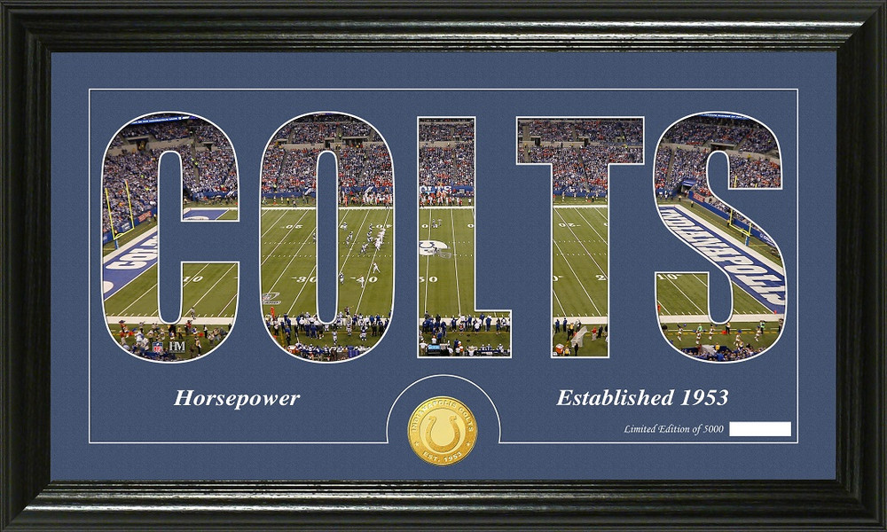 Indianapolis Colts Word Silhoutte Coin Photo Mint