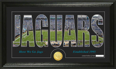 Jacksonville Jaguars Word Silhoutte Coin Photo Mint
