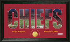 Kansas City Chiefs Word Silhoutte Coin Photo Mint