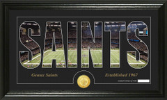 New Orleans Saints Word Silhoutte Coin Photo Mint