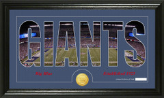 New York Giants Word Silhoutte Coin Photo Mint