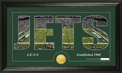 New York Jets Word Silhoutte Coin Photo Mint