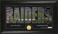 Oakland Raiders Word Silhoutte Coin Photo Mint