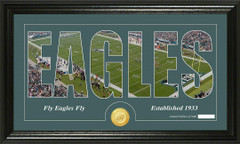 Philadelphia Eagles Word Silhoutte Coin Photo Mint