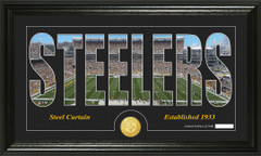 Pittsburgh Steelers Word Silhoutte Coin Photo Mint