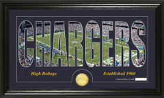 San Diego Chargers Word Silhoutte Coin Photo Mint