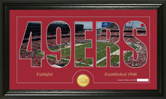 San Francisco 49ers Word Silhoutte Coin Photo Mint