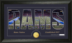 St. Louis Rams Word Silhoutte Coin Photo Mint