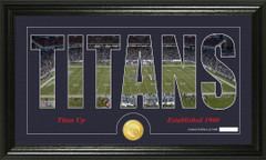 Tennessee Titans Word Silhoutte Coin Photo Mint
