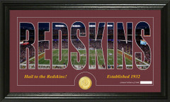 Washington Redskins Word Silhouette Coin Photo Mint
