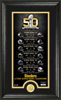 Pittsburgh Steelers Super Bowl 50th Anniversary Bronze Coin Photo Mint