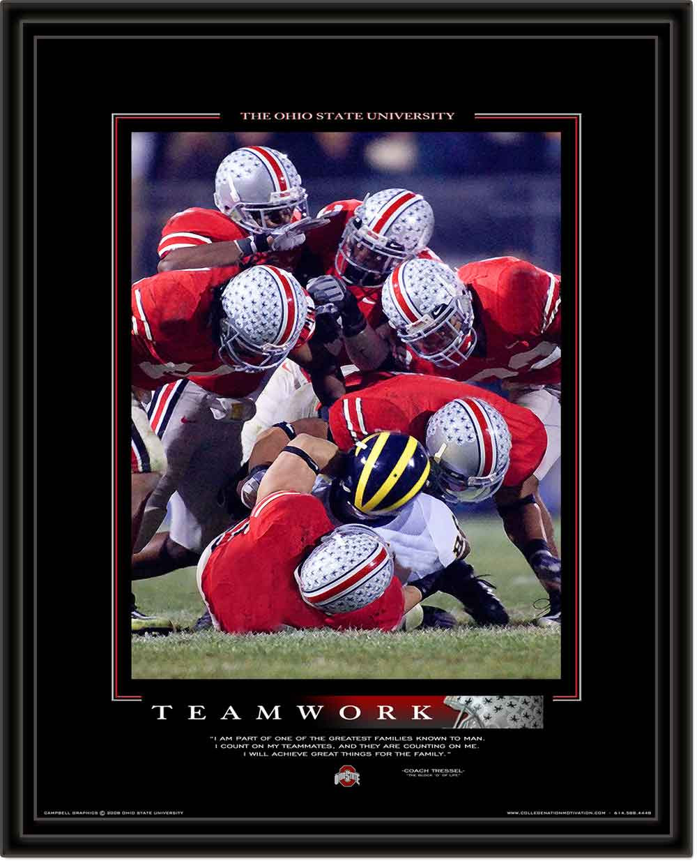 Ohio state framed teamwork motivational poster jeuxipadfo Image collections