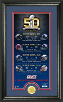 New York Giants Super Bowl 50th Anniversary Bronze Coin Photo Mint