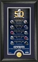 Dallas Cowboys Super Bowl 50th Anniversary Bronze Coin Photo Mint
