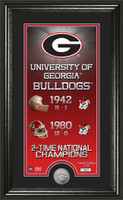Georgia Bulldogs Legacy Supreme Minted Coin Photo Mint