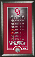 Oklahoma Sooners Legacy Supreme Minted Coin Photo Mint