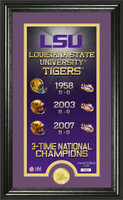 LSU Tigers Legacy Supreme Minted Coin Photo Mint