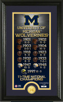 Michigan Wolverines Legacy Supreme Minted Coin Photo Mint