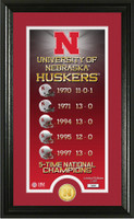 Nebraska Cornhuskers Legacy Supreme Minted Coin Photo Mint