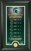 Michigan State Spartans Legacy Supreme Minted Coin Photo Mint