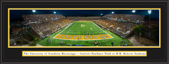 "Southern Miss Golden Eagles Stadium ""The Rock"" Framed Print"