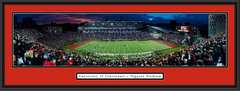 Cincinnati Bearcats Nippert Stadium At Dusk Framed Picture