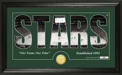 Dallas Stars Word Silhouette Coin Photo Mint