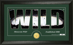 Minnesota Wild Word Silhouette Coin Photo Mint