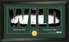 Minnesota Wild Word Silhouette Coin Photo Mint
