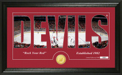 New Jersey Devils Word Silhouette Coin Photo Mint