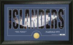 New York Islanders Word Silhouette Coin Photo Mint