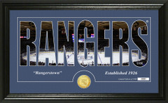 New York Rangers Word Silhouette Coin Photo Mint