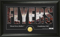 Philadelphia Flyers Word Silhouette Coin Photo Mint
