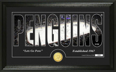 Pittsburgh Penguins Word Silhouette Coin Photo Mint